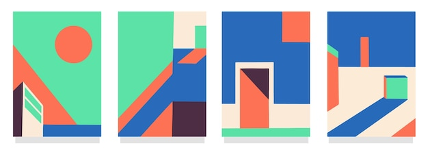 Set di copertine di architettura minimale