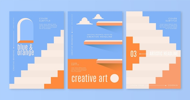 Minimal architecture covers template pack