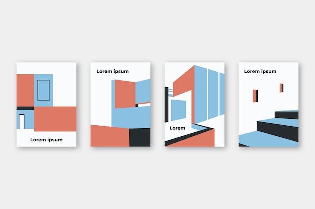 Modello di copertine di architettura minimale