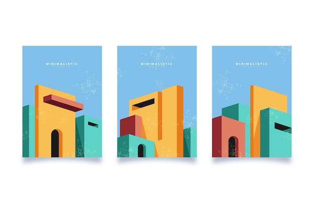最小限の建築カバーコレクション