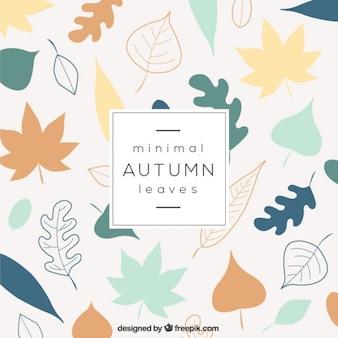 Minimal foglie d'autunno sfondo