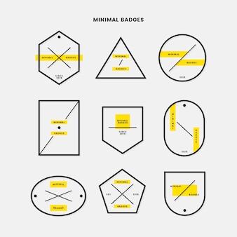 Minimal badge set