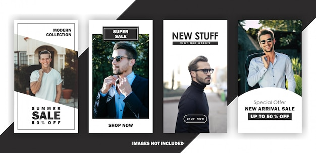 Minimal banner story template
