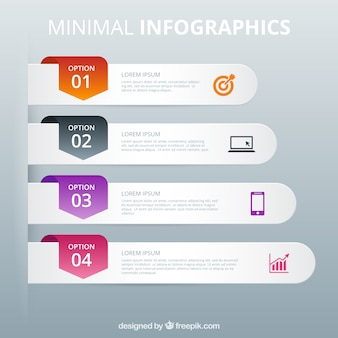 Minimal banners infographic