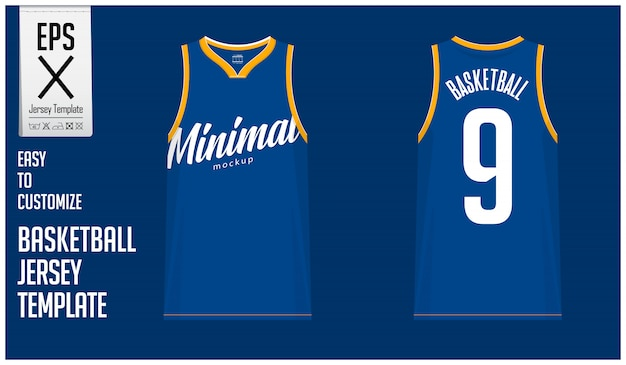 Minimal basketball jersey template design