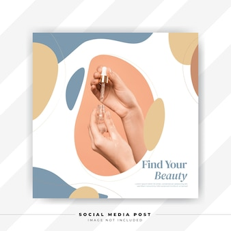 Minimal beauty and spa abstract memphis social media post template
