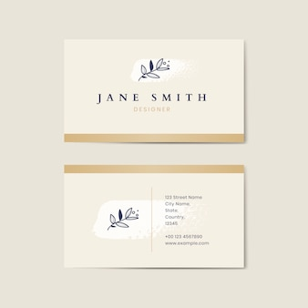 Minimal beige business card template vector