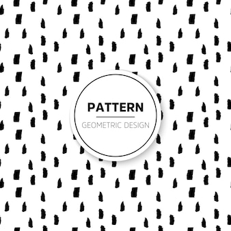 Minimal black and white pattern with hand drawn signs