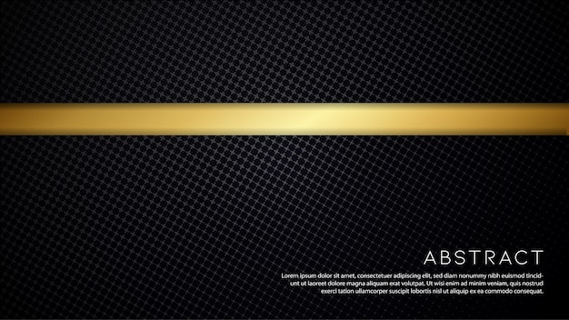 Minimal black background with gold line