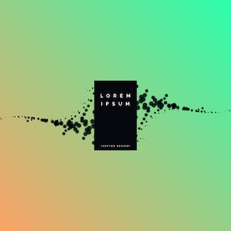 Minimal black particles vector background