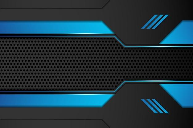 최소한의 블루 테크노 배경입니다. 그림 추상 기하학적 모양 프리미엄 벡터