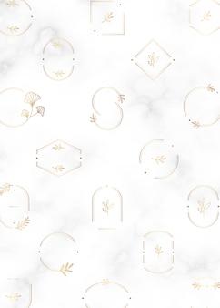 Minimal botanical frames design