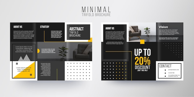 Minimal brochure template theme
