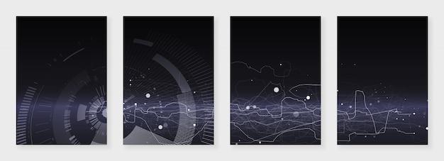 Минимальные шаблоны брошюр. абстрактная текстура