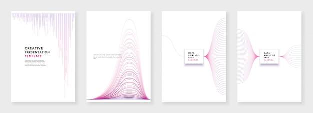 最小限のパンフレットテンプレート。白い背景のインフォグラフィック要素。