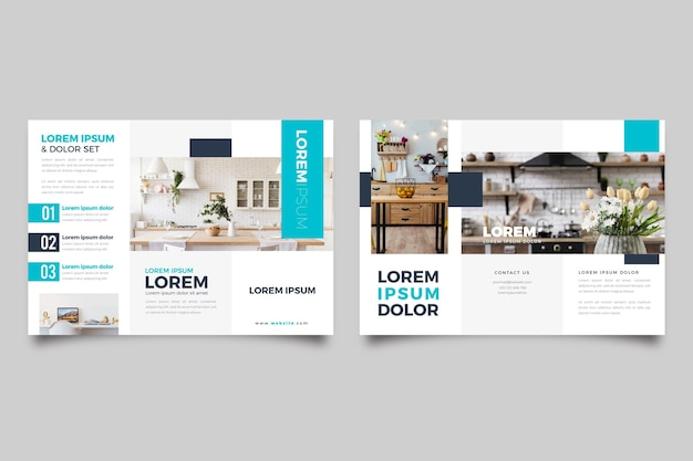 Minimal brochure with photo