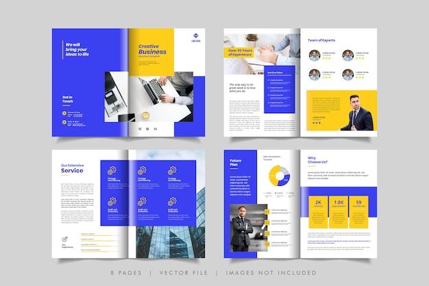Minimal business brochure or booklet design template