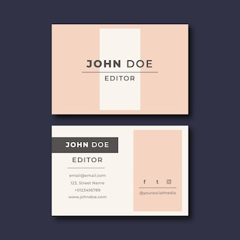 Minimal business card collection template