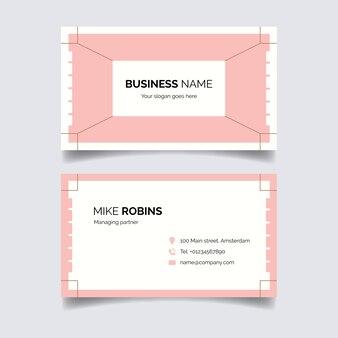 Концепция минимальной визитной карточки