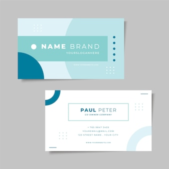 Minimal business card style