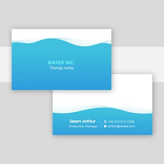 Minimal business card template concept