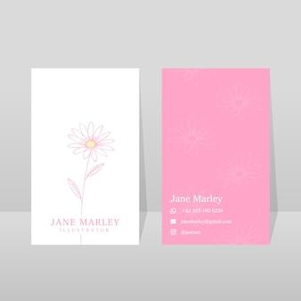 Минимальный дизайн шаблона визитной карточки