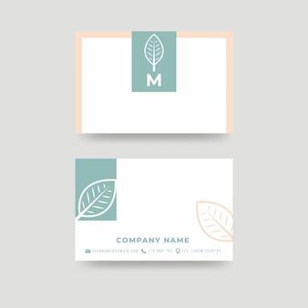 Минимальный макет визитной карточки