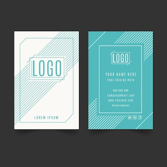 Minimal business card template set