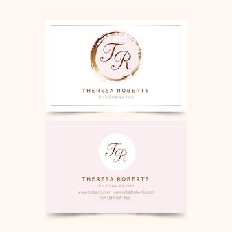 Minimal business card template set
