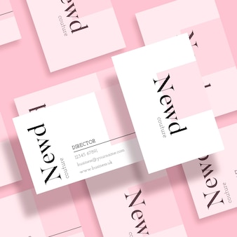 Minimal business card template in soft colors