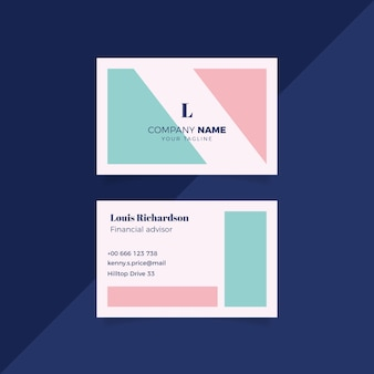 Minimal business card template theme