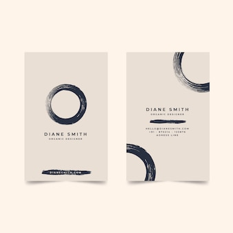 Minimal business card template vector