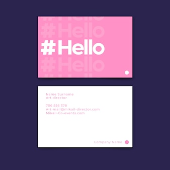 Minimal business card template