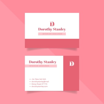 Minimal business card theme for template