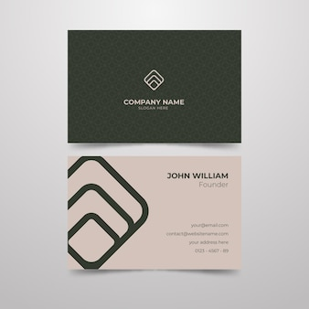 Minimal business card theme