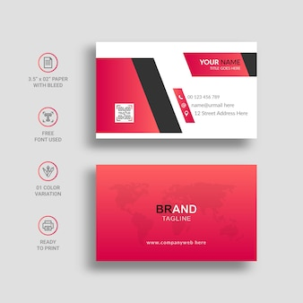 Minimal business card with awesome gradient color