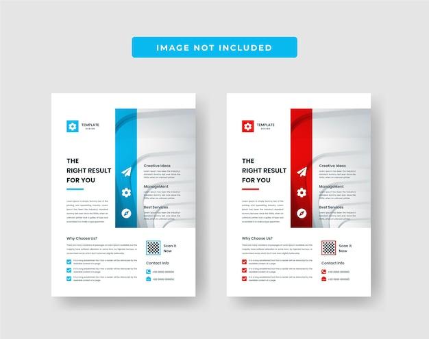 Minimal business flyer design template