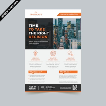 Minimal business flyer premium