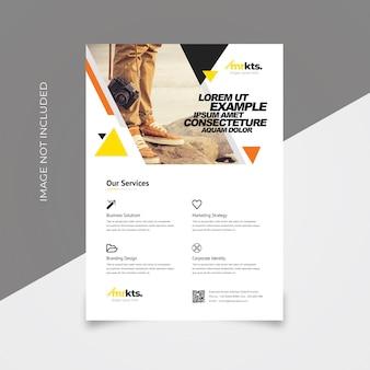 Minimal business flyer template