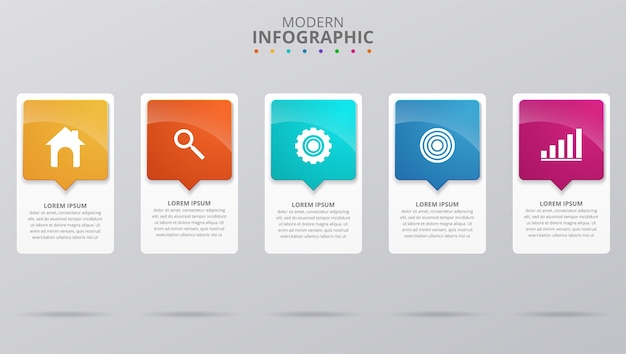 Minimal business infographics template. vector illustration