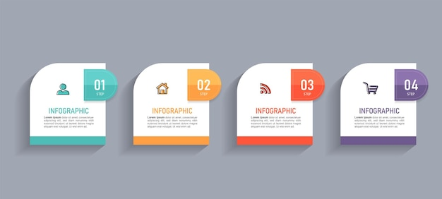 Minimal business infographics template