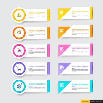 Минимальный деловой инфографический шаблон