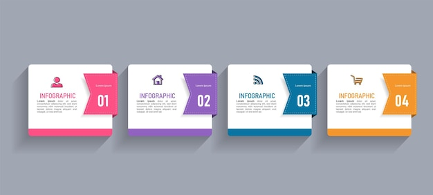 Minimal business infographics template