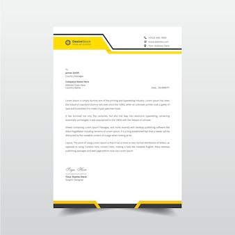 Минимальный деловой бланк и профессиональный дизайн шаблона счета