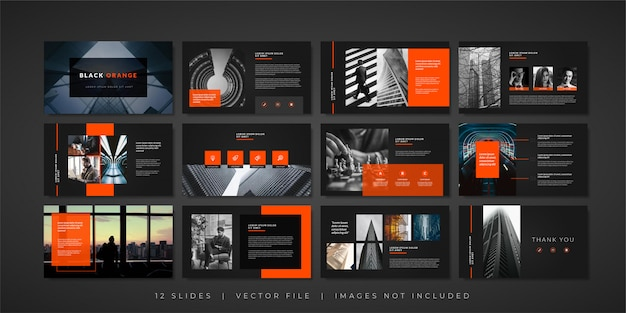 Minimal business presentation slides template