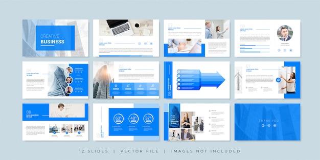 Minimal business presentation slides template