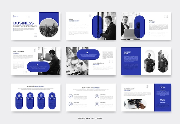 Minimal business project proposal presentation slide template or company profile pwoerpoint template