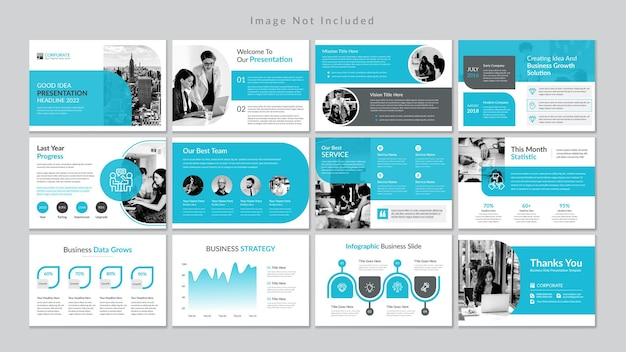 Minimal business slides presentation template premium vector.