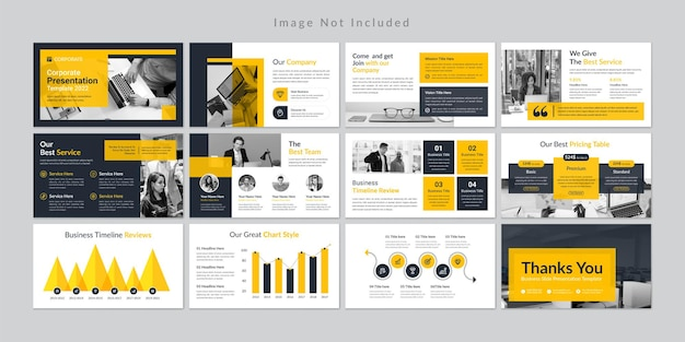 Шаблон презентации минимальных бизнес-слайдов premium vector.