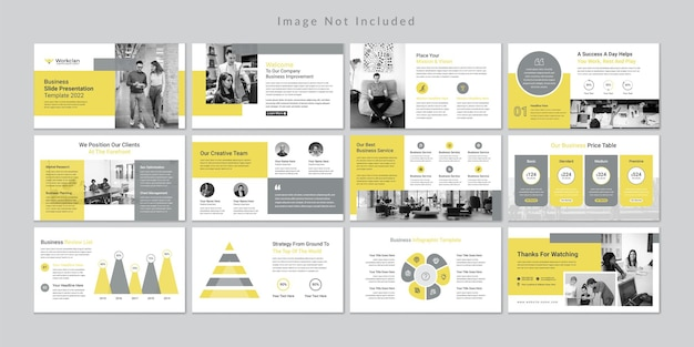 Minimal business slides presentation template
